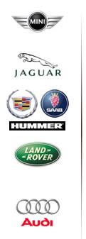 MINI Jaguar Chevrolet ランドローバー アウディー